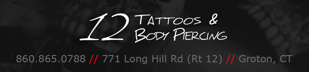 12 Tattoos & Body Piercing